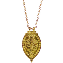 "Load image into Gallery viewer, Prayer Necklace - 14K Gold ""Invoke Peace Within"""