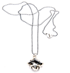 Mitzi Silver Night Crystal Necklace