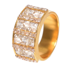 Load image into Gallery viewer, Ajmer Gold Ring with Silver Resin