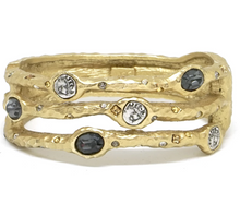 Load image into Gallery viewer, Capri 3 Row Coin & Crystal Bangle