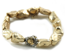 Load image into Gallery viewer, Gold Capri Nugget Bracelet
