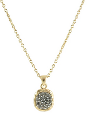 Load image into Gallery viewer, Gold Pavia Pave & Frame Necklace