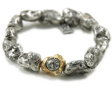 Load image into Gallery viewer, Silver Capri Nugget Bracelet