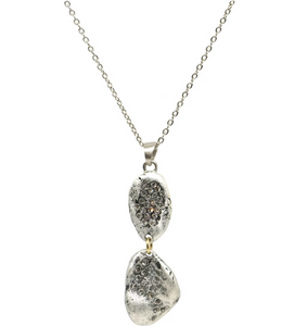 Silver Crystal Impression Necklace