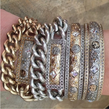 Load image into Gallery viewer, Silver Zeus Double Wrap ID Bracelet