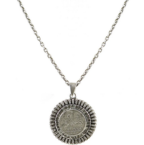 Gerona Coin Sunburst Necklace