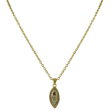 Load image into Gallery viewer, Gold Adria Almond Shape Pendant Necklace