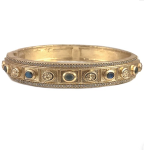 Gold Bela Small Labradorite & Coin Bangle