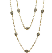 Load image into Gallery viewer, Silver Faustina Coin & Crystal Station Necklace