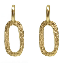 Load image into Gallery viewer, Gold Hammered Catena Link Earrings