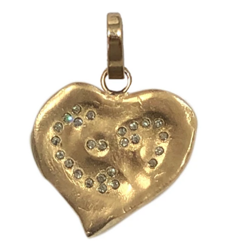 Gold Impression Heart Pendant