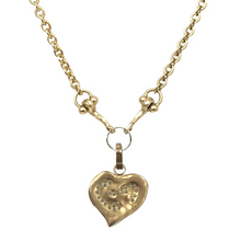 Load image into Gallery viewer, Gold Impression Heart Pendant