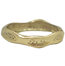 Load image into Gallery viewer, Gold Medium Impression Bangle