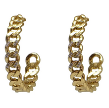 Load image into Gallery viewer, Gold Mini Catena Hoops