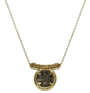 Gold Mini Dupre Bar Necklace