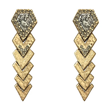 Load image into Gallery viewer, Silver Piramis Diamond Shapes Earrings