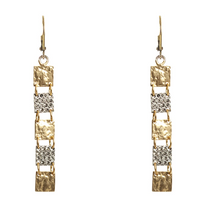 Load image into Gallery viewer, Gold Roman Man 5 Square Earrings