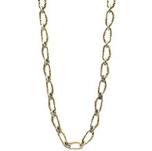 Load image into Gallery viewer, Gold Twisted Link Necklace