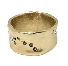 Load image into Gallery viewer, Silver Wide Impression Band Ring