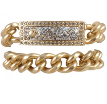 Load image into Gallery viewer, Gold Zeus Double Wrap ID Bracelet