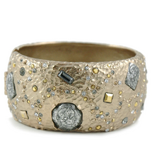 Load image into Gallery viewer, Siena Silver Marcasite Wide Bangle
