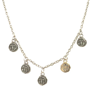 Silver Apollonia Multi-Coin Necklace