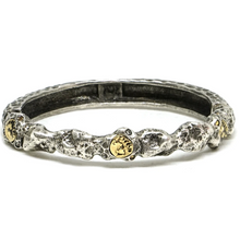 Load image into Gallery viewer, Gold Nugget Bangle