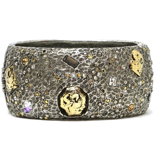 Siena Silver Marcasite Wide Bangle