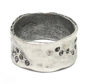 Silver Wide Impression Band Ring