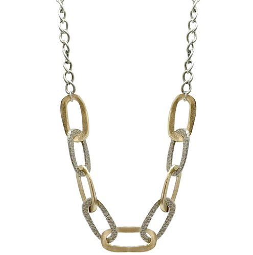 Two Tone Catena Chain Link Necklace