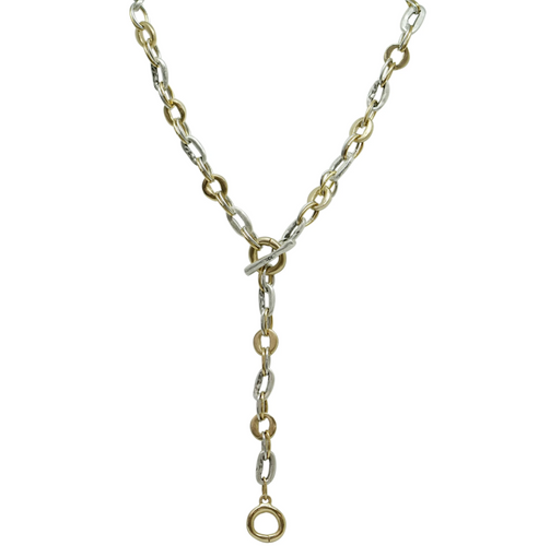 Two Tone Mini Link Y Necklace