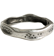 Load image into Gallery viewer, Vintage Silver Medium Impression Bangle