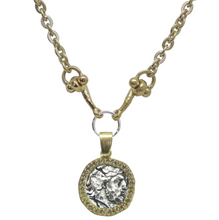 Load image into Gallery viewer, Zeus Coin Horse Bit Necklace