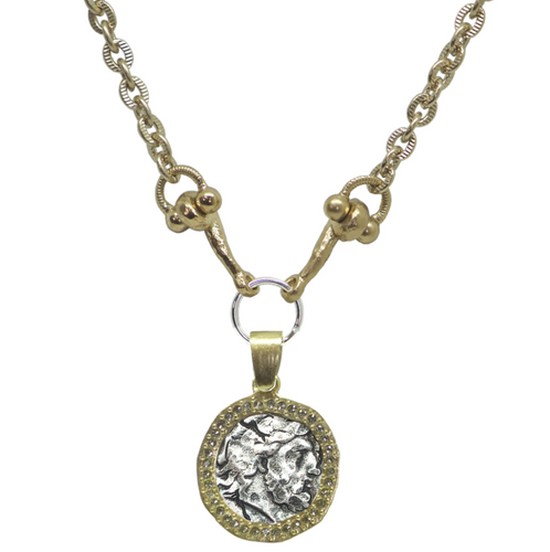 Zeus Coin Horse Bit Necklace