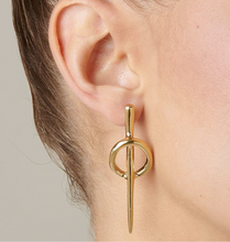 Load image into Gallery viewer, Backstitch Earrings - Silver