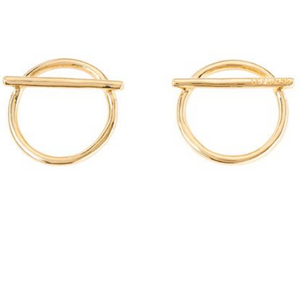 Switch On Earrings - Gold
