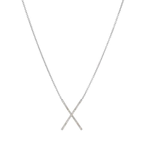 Brooklyn Diamond Pavé X Necklace