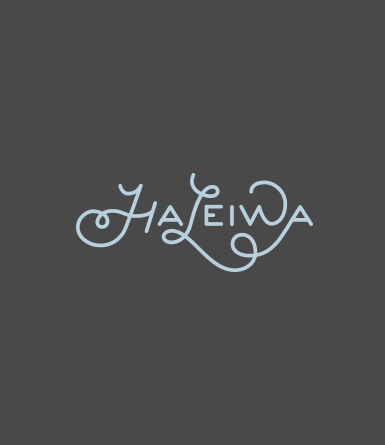 Hand Drawn Type- Haleiwa