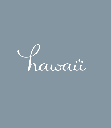 Hand Drawn Hawaii Type 2