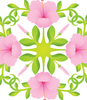 Hibiscus Hawaiian Quilt Design- vector