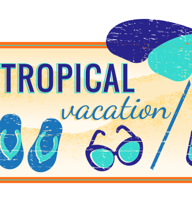 Badge- Tropical Vacation
