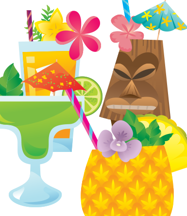 Tropical Drinks- vector