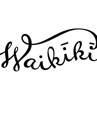 Hand Drawn Waikiki Type
