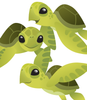 Cute Baby Sea Turtles- vector