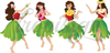 Hula Dancers- vector