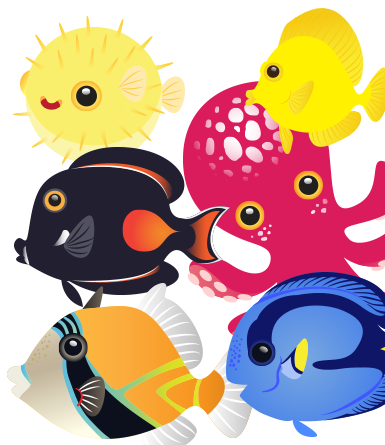 Adorable Tropical Fish- vector