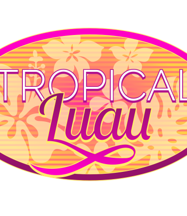 Party badge- Tropical Luau