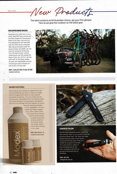 Australian Mountain Bike Modex Natural Sports Supplement