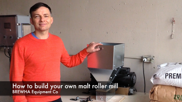 How to assemble a grain roller mill for a microbrewery/brewpub
