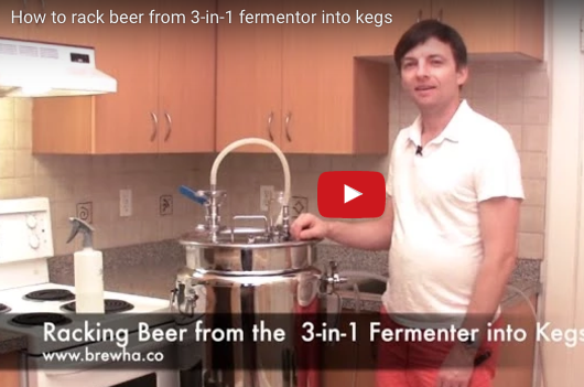 How to rack (transfer) beer from 3-in-1/4-in-1 fermenter into kegs